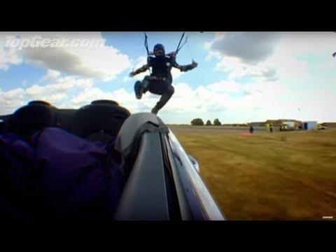 Parachute Into Car Challenge!   Top Gear