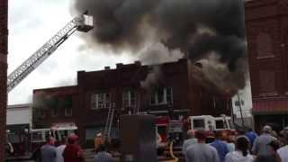 Fire above Bon Ton Photo Studio, Cambridge, OH