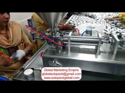 Semi Automatic Paste Filling Machine / Hand Sanitizer Filling Machine