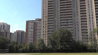 preview picture of video 'Fun Flying My Sab Goblin 700 RC Helicopter, Deep Inside The City Of Toronto... 2013.'