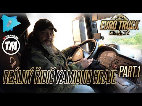 Skutočný vodič kamiónu hrá Euro Truck Simulator 2