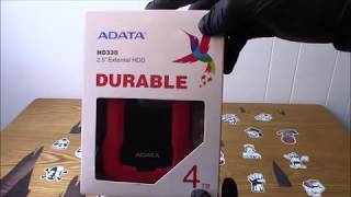 ADATA HD330 2 5 External HDD 4TB Storage USB 3 0 Interface Portable  HDD With Shock Sensor Unboxing