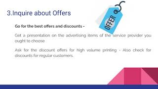 Tips to Choose Online Printing Services - Promotional Materials