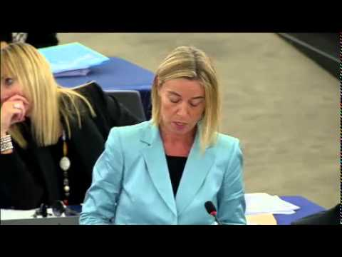 The refugee crisis puts our identity to the test - Federica Mogherini in the EP