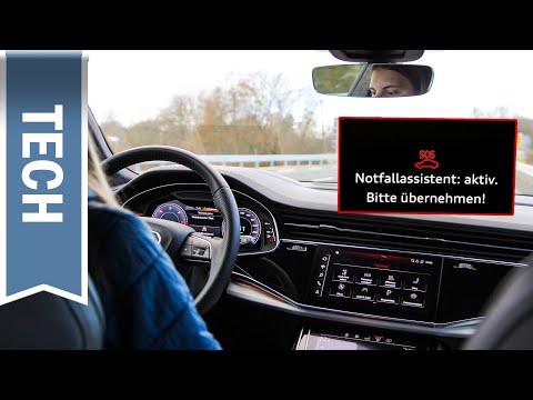Notfallassistent im Audi Q8 im Test: (Sehr) kräftiges Eingreifen, Nothalt und eCall ausprobiert