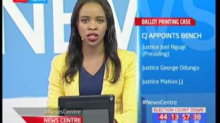 News Centre : Chief justice David Maraga appoints three bench judges to oversee the ballot paper sag