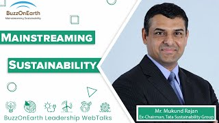 BuzzOnEarth Leadership WebTalks | Mukund Rajan (Part 1)