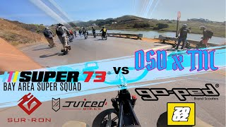 Super73 Bay Area vs OSD x TNL (GoPed) Marin Headlands Complete Group Ride | GoPro Hero 7 RAW FPV
