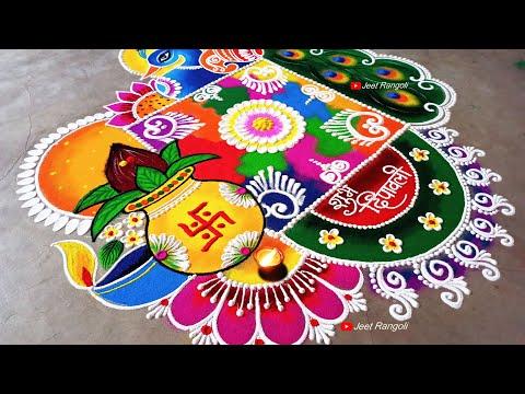 mandala rangoli design for diwali by jeet