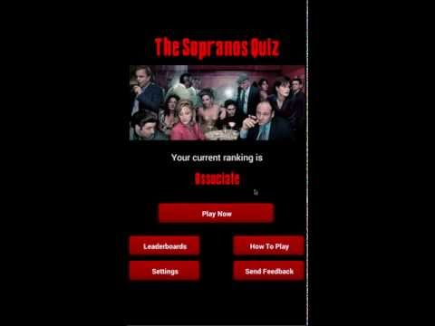 Video of The Sopranos Quiz