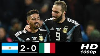 Argentina vs Italy 2-0 • All Goals and Highlights • International Friendly Match • 2018 HD
