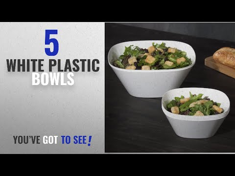Best White Plastic Bowls [2018]: Set of 6 | Avant White Plastic Serving Bowls, Small Party Snack
