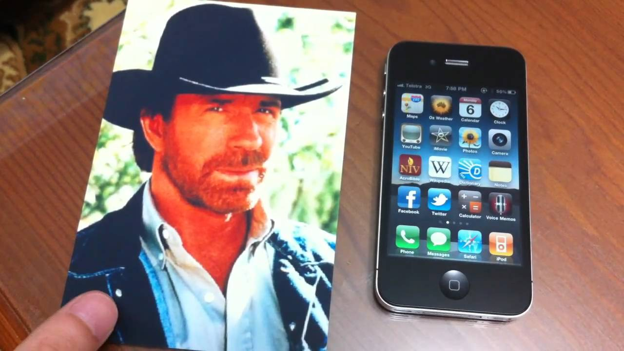Chuck Norris Will Roundhouse Kick Your iPhone 4 Reception Issues Away