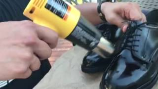How to spit shine shoes