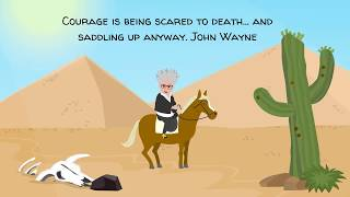 courage is saddling up. Vyond animation