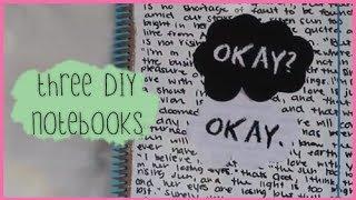 3 DIY Notebook Ideas | Back to School 2013