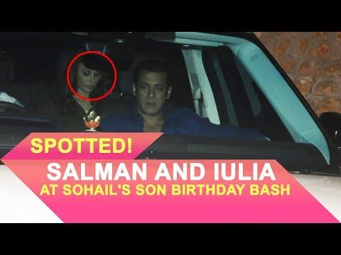 Salman Khan and Iulia Vantur at Sohail Khan's Son Birthday Bash
