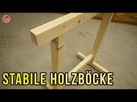 Stabile Holzböcke. Einfach, schnell und billig selber bauen! | Lets Bastel