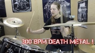 300 BPM Death Metal Drum Practice!!!