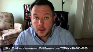 Stop Creditor Harassment With Maryland Bankruptcy