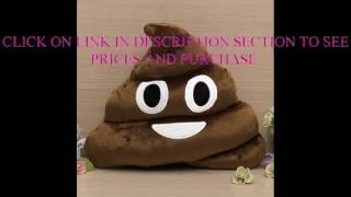 Large Emoji Pillow Poop Poo 13 inch Big Brown Size Emoji Emoticon Wholesale LOTS