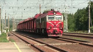 Тепловоз 2М62УМ-0383 на ст. Жасляй / 2M62UM-0383 at Zasliai station