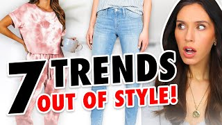 7 Fashion Trends OUT OF STYLE in 2021! *trash or donate*