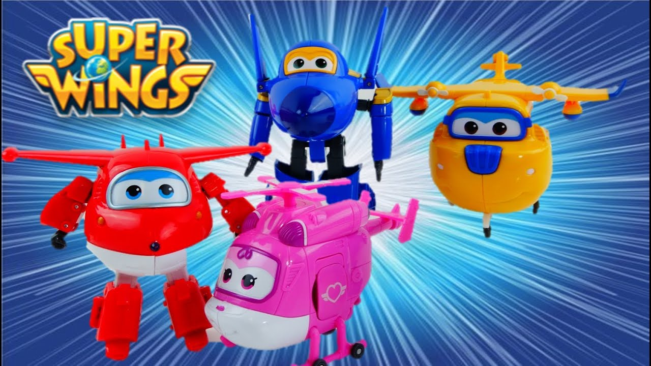 Super Wings Robot Transformer Airplane Toys Review With Jett