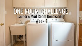Laundry/Mudroom Home Renovation | One Room Challenge Week 1 | Before + Design Inspiration
