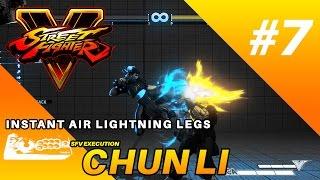 SFV Chun Li Execution : Instant Air Lightning Legs (Arcade Stick)
