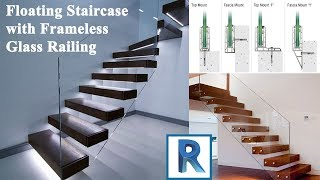 Revit 2019 Beginner Course - Part 16 - Floating Staircase With Frameless Glass Railing