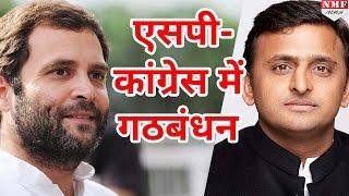 UP Assembly Election साथ लड़ेंगे Akhilesh  Rahul SPCongress में हुआ गठंबधन