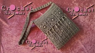 طريقة كروشيه حقيبة يد //    DIY Crochet Handbag