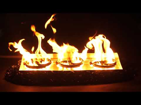 "Firenado 24"" Vented Spiral Gas Log Burner Overview"
