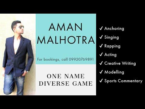 Aman Malhotra (Anchor) | Showreel