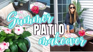 SMALL PATIO SUMMER DECOR ON A BUDGET | DECORATING IDEAS | EXTREME CLEAN WITH ME | CLEAN AND DECORATE