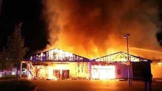 Millionenschaden: Netto-Markt In Mainz-Kastel Ausgebrannt