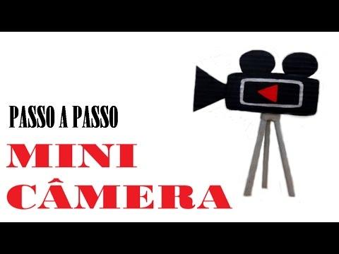 Aprenda como fazer uma mini câmera de papelão ! D.I.Y DECORAÇÃO YOUTUBER