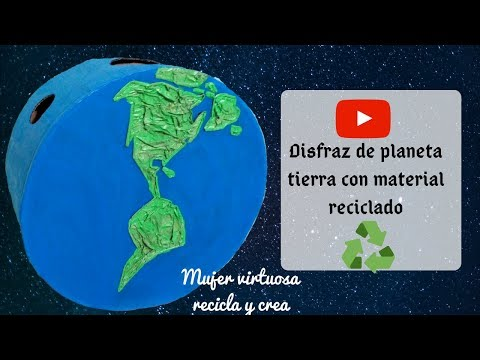 PASO A PASO DISFRAZ▶️con material reciclado ♻️🌎