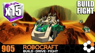 Robocraft 15 Protonium Crates Build and Fight 'Brunk' SMG Plasma Tank