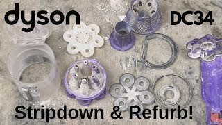 HOW TO Stripdown and Refurbish a Dyson DC34 Handheld