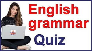 English grammar quiz with answers and explanation