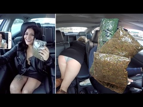 Selling Massive Amounts Of Marijuana While Driving For Uber Prank!!