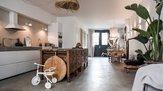 Family Home In Amsterdam With Match Of Modern & Rustic Style ▸ Interior Design