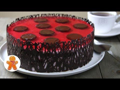 """Рецепт торта с вишней """"Божья коровка"""""""