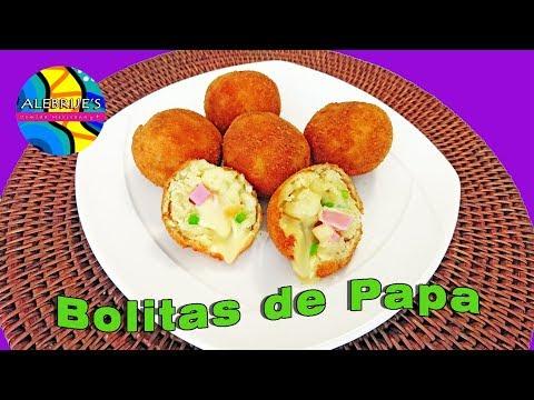 💛 BOLITAS DE PAPA RELLENAS DE QUESO, mashed potato balls