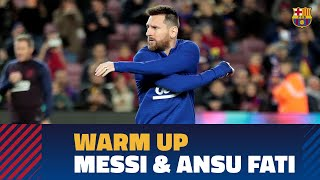 BARÇA 4-1 CELTA| This is how Messi warmed up before his great match against Celta