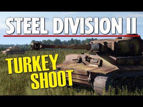 TIGER TURKEY SHOOT! Steel Division 2 BETA Gameplay (Lyakhavichy, 4v4)