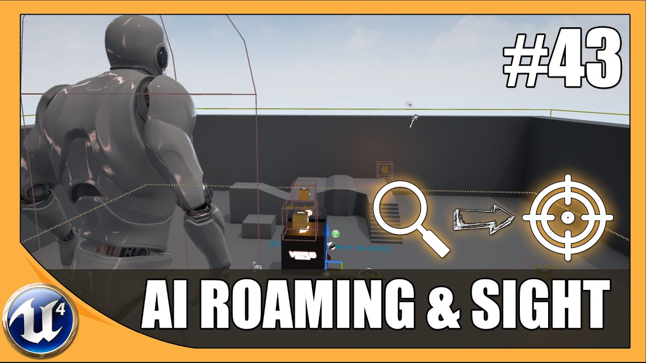 Setting Up AI Roaming & Destinations - #43 Unreal Engine 4 Beginner Tutorial Series