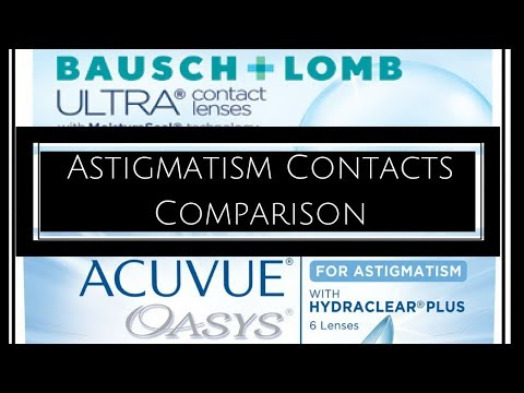 Bausch + Lomb Ultra Astigmatism VS. Acuvue Oasys Astigmatism Comparison | Nancy Hui